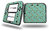 Sea Shells 02 Seafoam Green - Decal Style Vinyl Skin fits Nintendo 2DS - 2DS NOT INCLUDED
