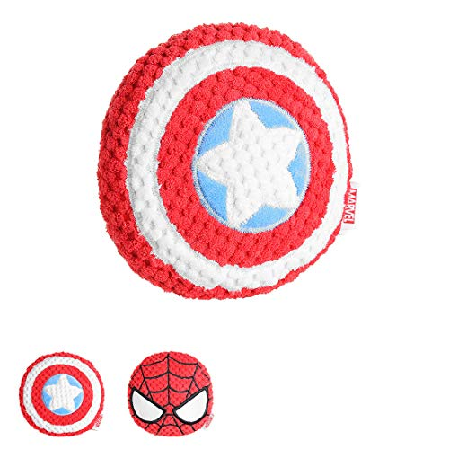 """MINISO Marvel 5.5"""" Plush Toy with Sound (Random Captain America or Spiderman) Stuffed Plushies Superhero Toys for Kids and Children"""
