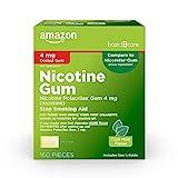 Amazon Basic Care Nicotine Polacrilex Coated Gum 4 mg (nicotine), Cool Mint, 160 Count