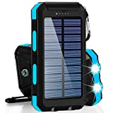 Solar Charger 30,000mAh, Dualpow Portable Solar Battery Charger External Battery Pack Phone Charger Power Bank for Cellphones...