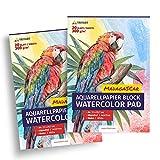 Tritart HOCHWERTIGES Aquarellpapier 300g / Din A4 / Weiß / 20 Blatt | Aquarellblock 2 Mal SPARANGEBOT