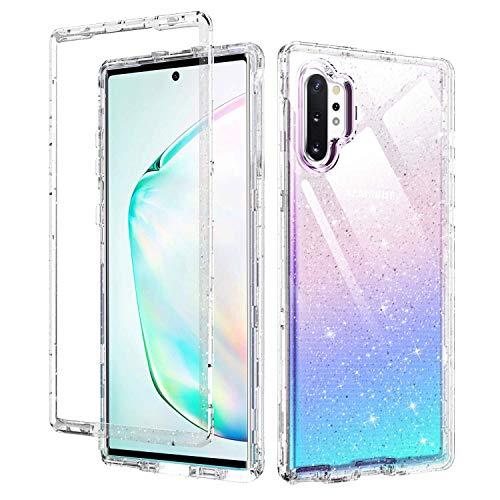 BENTOBEN Samsung Galaxy Note 10 Plus Hülle, Galaxy Note 10+ Handyhülle, 3 in 1 Hybrid PC Hartschale TPU Bumper Transparent stoßfest Kratzfest Schutzhülle für Samsung Galaxy Note10+ 5G Kristallklar