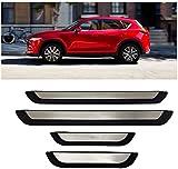 LFOTPP Tiras de umbral de acero inoxidable, accesorios de diseño de automóviles, protección de umbral para CX5 [4 unidades]