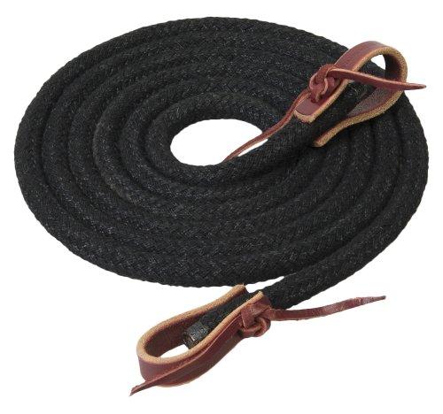 Weaver Leather Silvertip Horseman's Braid Roper Rein, Black, 1/2-Inch x 8-Feet
