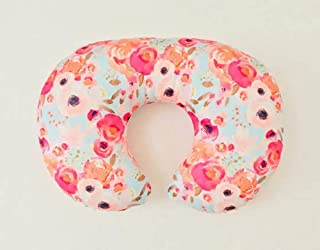 Nursing Pillow Cover - Aqua Indy Floral