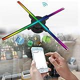 【𝐏𝐫𝐨𝐦𝐨𝐜𝐢ó𝐧 𝐝𝐞 𝐒𝐞𝐦𝐚𝐧𝐚 𝐒𝐚𝐧𝐭𝐚】Ventilador holográfico 3D, LED HD Reproductor de hologramas 3D Pantalla publicitaria Teléfono WiFi Control Proyector, para letreros, restaurantes, feria