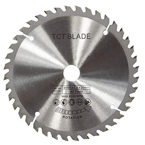 Yongenee duradero Sierra de madera duro de la hoja TCT universal, multi-funcional de la hoja de sierra circular suave 165 * 2.3 * 20 * accesorios de corte de la máquina 40T Cuchilla Industriales (Tama