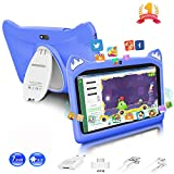 Tablette Enfants 7 Pouces Android 9.0 Pie Certifié Google GMS 3Go RAM 32Go/128Go ROM Tablette Tactile 1.5Ghz Quad Core OTG WiFi Tablet PC Netflix Youtube Jeux Éducatifs Tablette pour Enfant(Bleu)