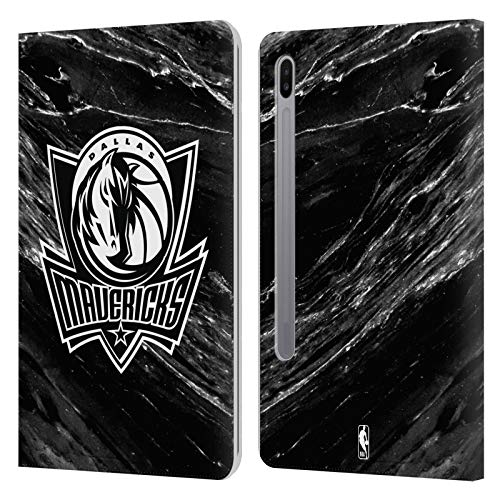 Officiële NBA B&W Marmer Dallas Mavericks Lederen Book Portemonnee Cover Compatibel voor Samsung Galaxy Tab S6 (2019)