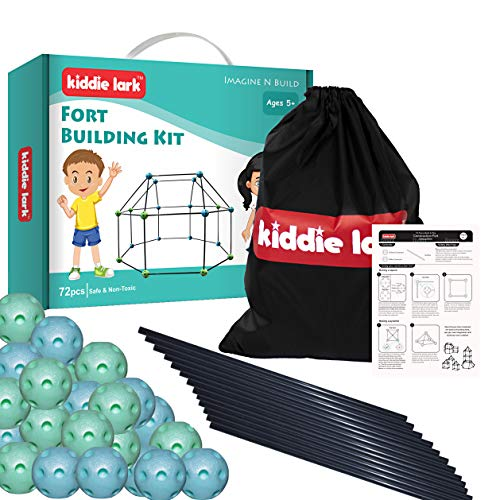 Fort Building Kit – Kids Fort for Ages 5 and Up – DIY STEM Fort Builder – Indoor and Outdoor Kids Forts Building Set - Build a Fort Construction Toy for Boys and Girls