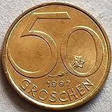 SHFGHJNM Colección de Monedas 1997 Coin Austrian Memorial Coin 1825