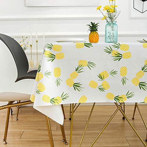 QUANHAO quadratische Tischdecke, wasserdichte Tischdecke kann geschrubbt Werden. Anti-Fouling-Farbplane PVC-Kunststofftischdecke für Esstische, Bankette usw. (Fruchtillustration, 110 x 160 cm)