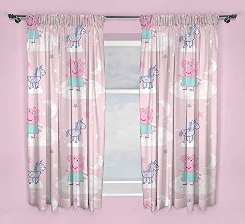Offizielles Peppa Wutz Vorhänge   Pink Stardust Kinderzimmer Vorhänge   Perfekt für jedes Kinderzimmer (137,2 cm)