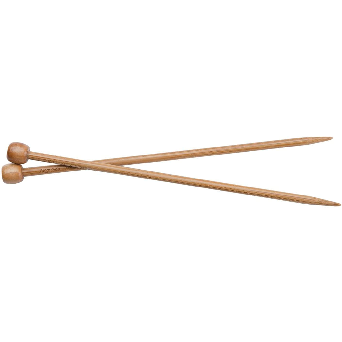 ChiaoGoo 7-Inch Single Point Dark Patina Knitting Needles, 3/3.25mm