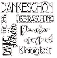 ドイツの透明なクリアシリコンスタンプシールDIYスクラップブッキングフォトアルバムに感謝します