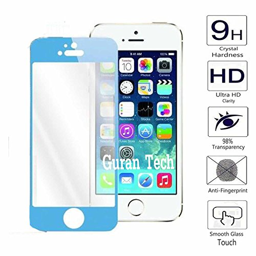 Guran Color Protector de Pantalla Vidrio Cristal Templado Para iPhone 5 5S...