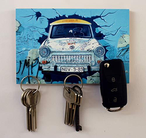 Schlüsselbrett Magnet Bild – Trabant- 10x15cm 3 Magnete Magnettafel Magnetboard magnetisches Schlüsselbrett