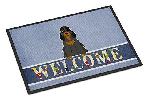 Caroline Tesoros del bb5674mat Cocker Spaniel Negro marrón Felpudo de Bienvenida, 18x 27, Multicolor