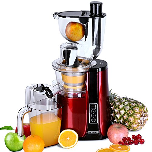 Monzana Slow Juicer Masticating Machine Cold Press Whole Fruit & Vegetable...