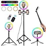 Luce per Selfie con Telecomando Wireless, 18 Colori RGB Ring...