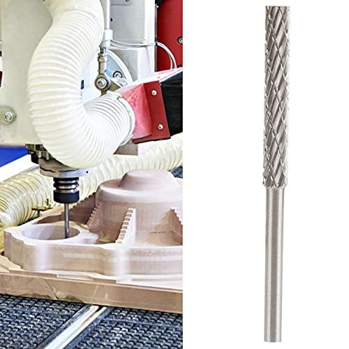 Lima giratoria de acero de tungsteno, patrón doble Fresa de tallado de 2 granos Fresas giratorias de metal duro 3x5x30x54 para madera/aluminio/plástico para taladro amoladora