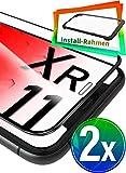 UTECTION 2X Full Screen Schutzglas 3D für iPhone XR & iPhone 11 (6.1') - Perfekte Anbringung Dank...