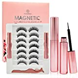 Magnetic Eyelashes with Eyeliner magnetic eyeliner and eyelashes kit False Eyelashes and Lashes for Women Waterproof Natural Look EyeLash Reusable Magnetic Lashes Prime with Tweezers 7 Pairs