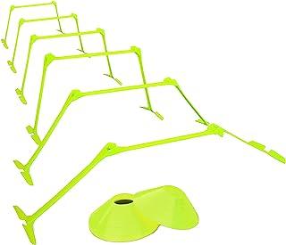 TOOGOO Ostacoli Regolabili e Set di Cono Ostacoli per Agilità Coni a Disco per Allenamento di velocità Pliometrico di Spor...