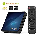 Android 9.0 TV Box 4GB RAM+64GB ROM, NinkBox N1 MAX RK3318 Quad-Core 64bit Cortex-A53, TV Box de Bluetooth 4.0, WiFi 2.4G/5G, 3D Ultra HD 4K, USB 3.0, BT 4.0 Smart TV Box
