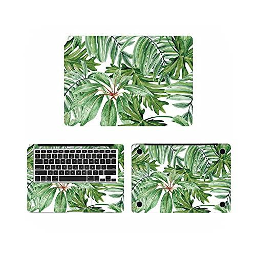 Vinilo adhesivo para portátil con pintura de hojas verdes para calcomanía Pro Retina 11 12 13 15 pulgadas cubierta completa Notebook Skin-ACD side-Retina 12 pulgadas