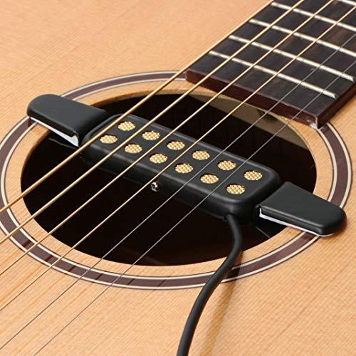 alsu3luy02Ld KQ-3 - Amplificador para guitarra acústica clásica con orificio para sonido, color negro