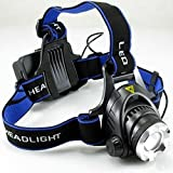 Cartshopper High Power 18650 Headlamp 1800LM CREE XM-L T6 LED Headlamps Hunting Headlight