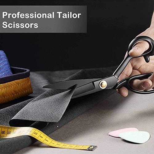 BIHRTC Fabric Scissors Heavy Duty Multi-Purpose 10 inch Stainless Steel Sewing Scissors Shears for Leather Tailor Professional Dressmaking Scissors Sharp Stork Scissors