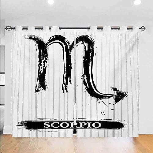 Cortinas de oscurecimiento del zodiaco Sagitario para dormitorio, diseño victoriano de arco y flecha,…
