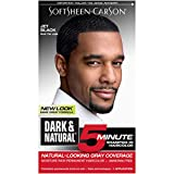 Hair Color for Men by SoftSheen Carson Dark and Natural, 5 Minutes, Natural Looking Gray Coverage...