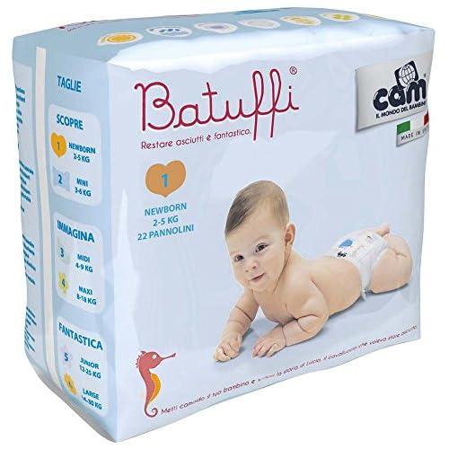 Cam Il Mondo del Bambino Pannolini, Misura 1, 2/5 kg - 22 Pezzi