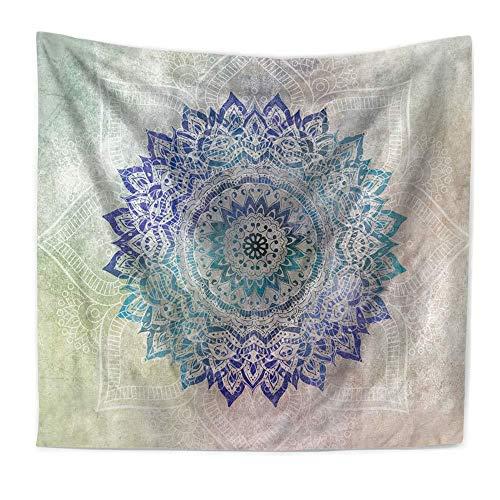 N / A Mandala Tapiz Indio Colgante de Pared Toalla de Playa Bohemia Fibra de poliéster Manta Fina mantón de Yoga Tapiz de Fondo Tela Decorativa A5 130x150cm