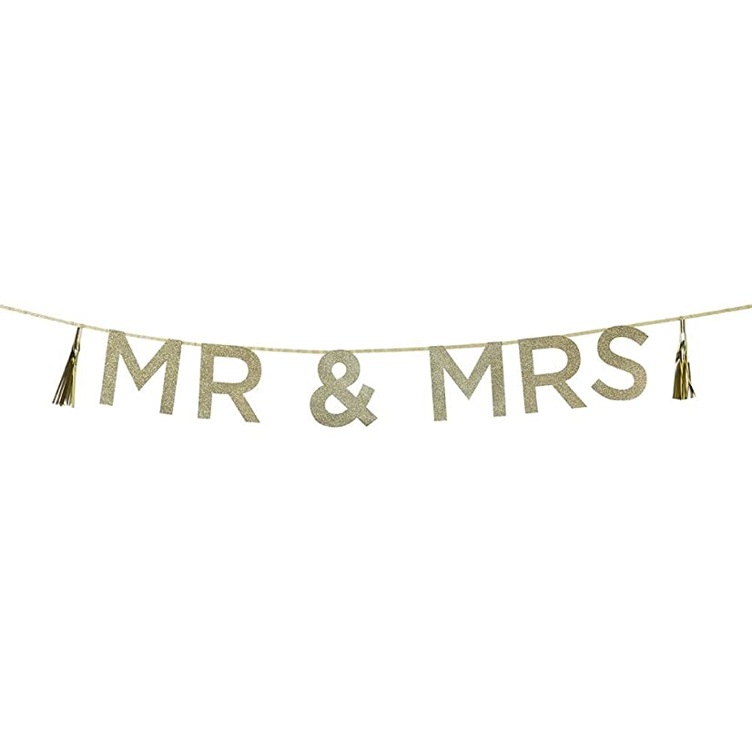 Talking Tables Say It with 'Mr. And Mrs.' Wedding Glitter Banner,10 Ft., Multicolor
