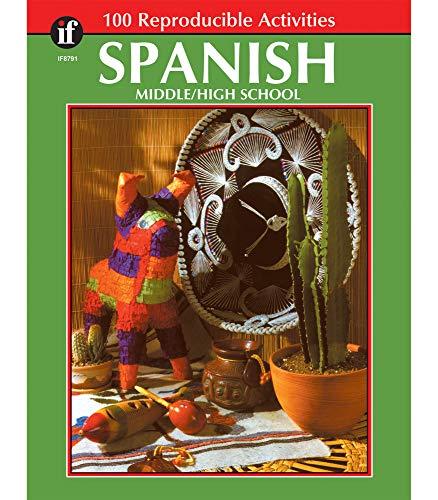 Carson Dellosa | The 100 Series: Spanish Workbook | Grades 6-12, Reproducible Activities, 128pgs