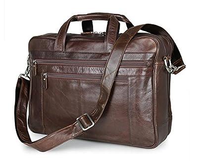 """Jsix Homme sac à Main CARTABLE sacoche EN Cuir sac à bandoulière 17"""" sac ordinateur portable adapté aux affaires Voyage"""