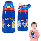 Franco Kids Double Wall Vacuum Insulated Stainless Steel Water Bottle, 14-Ounce, Pokemon
