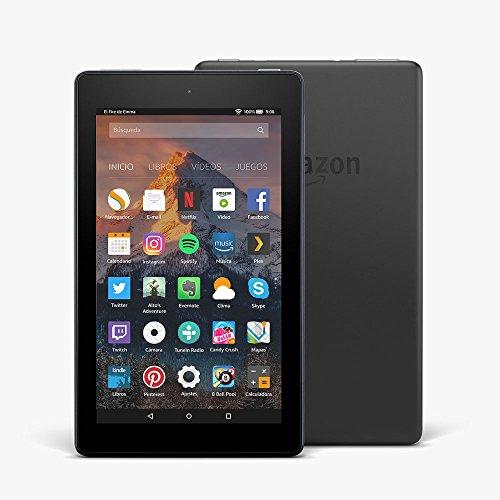 Fire 7 reacondicionado certificado, pantalla de 7'' (17,7 cm), 16 GB (Negro) - Con publicidad (7ª generación - modelo de 2017)