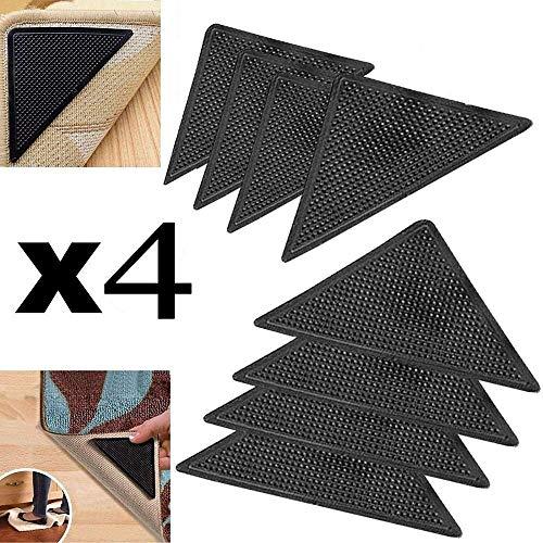 4pcs / Set Wiederverwendbare Waschbare Teppich Teppich Mat Greifer Anti Skid Corners-Nicht Beleg-Silikon Grip for Home Bad