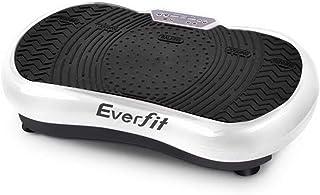 Everfit Vibration Machine Platform Plate Exercise Body Shaper Slimmer Power Fit Vibrating Fitness White Oscillating Straps Home Gym