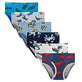 Boboking Little Boys Briefs Dinosaur Truck Toddler Kids Underwear (Pack of 6), Style 11, 2T - 3T