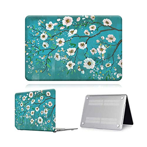 for MacBook Air Pro Retina 11 12 13 15 16 Touch Bar Print Painting Laptop Shell Cover case 13.3 A1369 A1466 Pro 16 (A2141)-White Flower Paint-Pro 16 A2141 (2019)