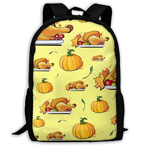 XCNGG Thanksgiving Day Pattern Autumn Large Capacity Travel Computer Backpack, Adult Printed Backpack, Anti Splash Student School Backpack