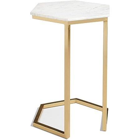 55x36x59,5cm Ch/êne Clair WOLTU TS79hei Table Bout de canap/é Table Basse /à th/é en m/étal et MDF