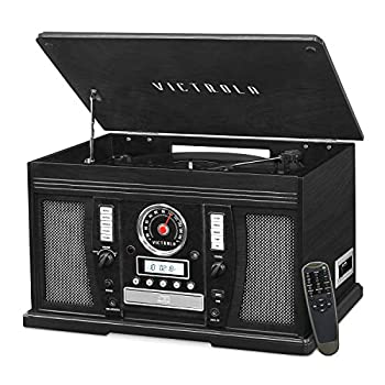 it.innovative technology Victrola Wood 7-in-1 Nostalgic Bluetooth Record Player with CD Encoding and 3-Speed Turntable