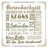 Rosenhochzeit ~ Gästebuch zum 10. Hochzeitstag: Vintage Dekoration zur Feier der Rosen Hochzeit - 10 Jahre - Deko Buch für Glückwünsche und Fotos der Gäste
